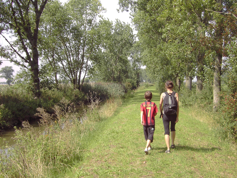 Kinderen wandelen